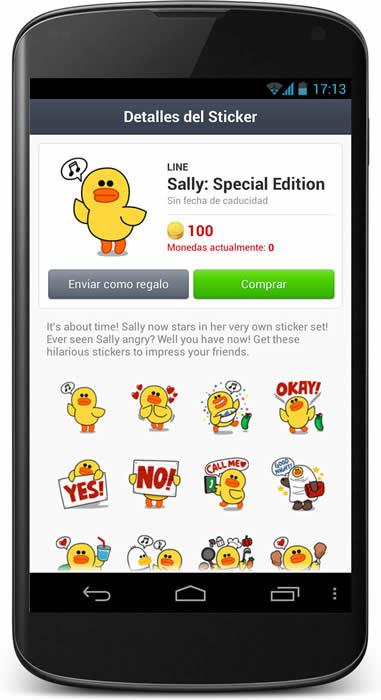 Ventas in-app en la app de Line