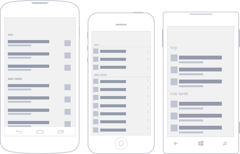 Capítulo 7: Interacción y patrones – Diseñando apps para móviles