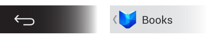 Botón de volver y 'up' en Android