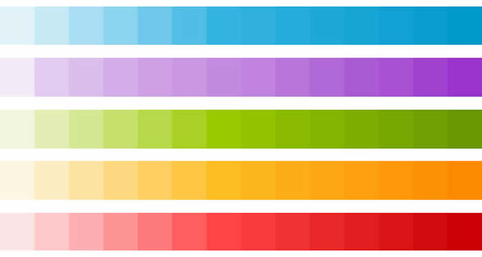 Colores recomendados en Android