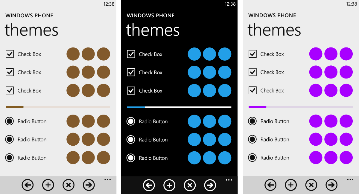 Colores en los temas de Windows Phone