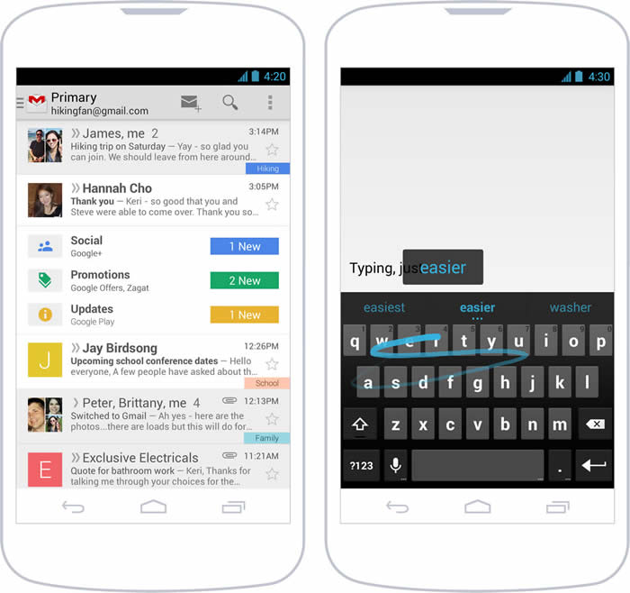 Estilo de diseño visual en Android