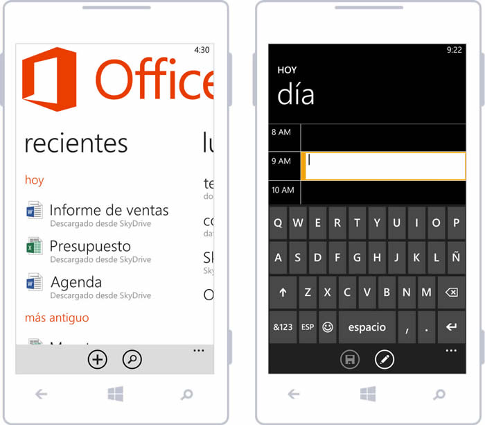 Estilo de diseño visual en Windows Phone