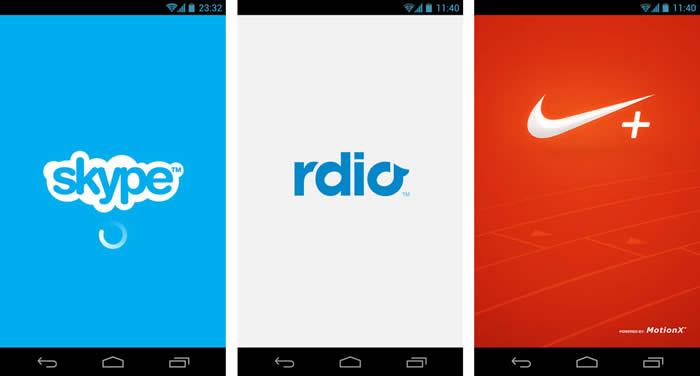 Pantallas iniciales en Android
