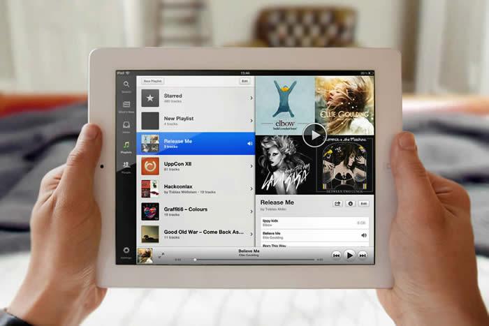 App de Spotify para iPad